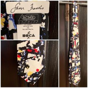 """Sam Francis"" Art Tie MOCA Abstract Painter Design"